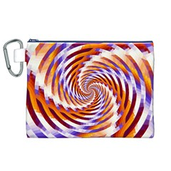 Woven Colorful Waves Canvas Cosmetic Bag (xl) by designworld65