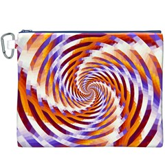 Woven Colorful Waves Canvas Cosmetic Bag (xxxl) by designworld65