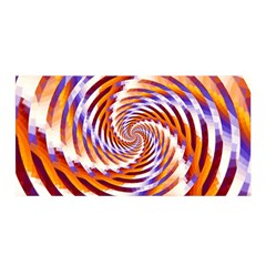 Woven Colorful Waves Satin Wrap by designworld65