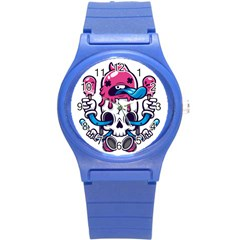Ice Cream Skull Round Plastic Sport Watch (s) by quirogaart