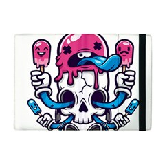 Ice Cream Skull Apple Ipad Mini Flip Case by quirogaart