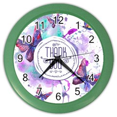 Thank You Color Wall Clocks by Zhezhe