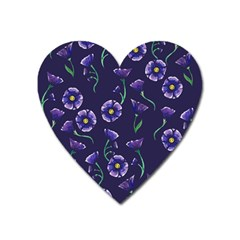 Floral Heart Magnet by BubbSnugg