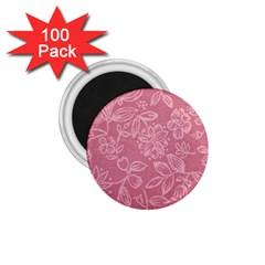 Floral Rose Flower Embroidery Pattern 1 75  Magnets (100 Pack)  by paulaoliveiradesign