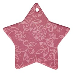 Floral Rose Flower Embroidery Pattern Star Ornament (two Sides) by paulaoliveiradesign