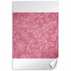 Floral Rose Flower Embroidery Pattern Canvas 24  X 36  by paulaoliveiradesign