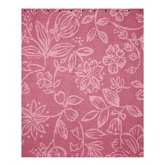 Floral Rose Flower Embroidery Pattern Shower Curtain 60  X 72  (medium)  by paulaoliveiradesign