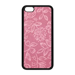 Floral Rose Flower Embroidery Pattern Apple Iphone 5c Seamless Case (black) by paulaoliveiradesign