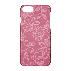 Floral Rose Flower Embroidery Pattern Apple Iphone 7 Hardshell Case by paulaoliveiradesign