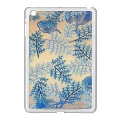 Fabric Embroidery Blue Texture Apple Ipad Mini Case (white) by paulaoliveiradesign