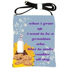 Cookie And Milk Sunflower Shoulder Sling Bag by twirlsandswirlsdesigns