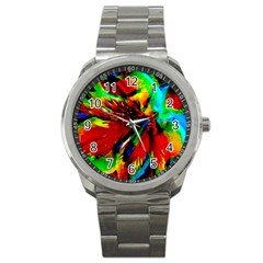 Flowers With Color Kick 1 Sport Metal Watch by MoreColorsinLife