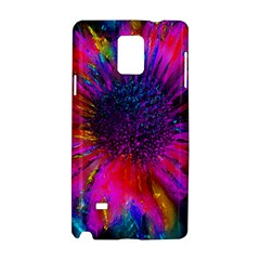 Flowers With Color Kick 3 Samsung Galaxy Note 4 Hardshell Case by MoreColorsinLife