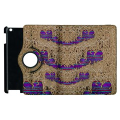 Pearl Lace And Smiles In Peacock Style Apple Ipad 3/4 Flip 360 Case by pepitasart