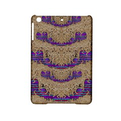 Pearl Lace And Smiles In Peacock Style Ipad Mini 2 Hardshell Cases by pepitasart