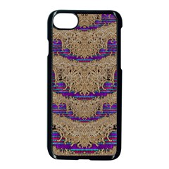 Pearl Lace And Smiles In Peacock Style Apple Iphone 7 Seamless Case (black) by pepitasart