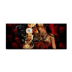 Steampunk, Beautiful Steampunk Lady With Clocks And Gears Cosmetic Storage Cases by FantasyWorld7