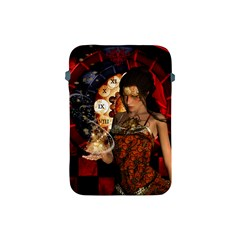 Steampunk, Beautiful Steampunk Lady With Clocks And Gears Apple Ipad Mini Protective Soft Cases by FantasyWorld7