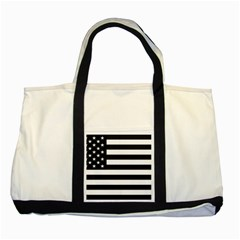 Flag Of Usa Black Two Tone Tote Bag by amphoto