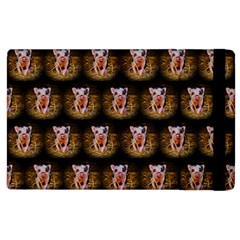 Cute Animal Drops   Piglet Apple Ipad 2 Flip Case