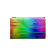 Colors Rainbow Pattern Cosmetic Bag (small)