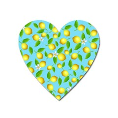 Lemon Pattern Heart Magnet by Valentinaart