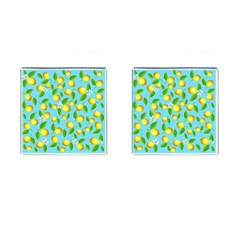 Lemon Pattern Cufflinks (square) by Valentinaart