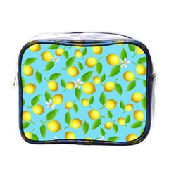 Lemon Pattern Mini Toiletries Bags by Valentinaart