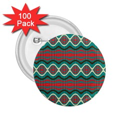 Ethnic Geometric Pattern 2 25  Buttons (100 Pack)  by linceazul