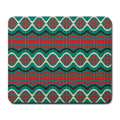 Ethnic Geometric Pattern Large Mousepads by linceazul