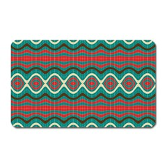 Ethnic Geometric Pattern Magnet (rectangular) by linceazul