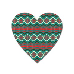 Ethnic Geometric Pattern Heart Magnet by linceazul