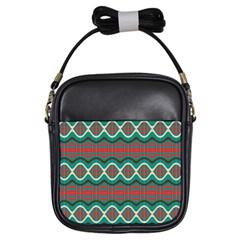 Ethnic Geometric Pattern Girls Sling Bags by linceazul
