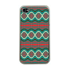 Ethnic Geometric Pattern Apple Iphone 4 Case (clear) by linceazul