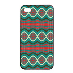 Ethnic Geometric Pattern Apple Iphone 4/4s Seamless Case (black) by linceazul