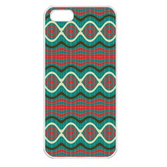 Ethnic Geometric Pattern Apple Iphone 5 Seamless Case (white) by linceazul