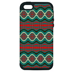 Ethnic Geometric Pattern Apple Iphone 5 Hardshell Case (pc+silicone) by linceazul