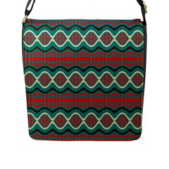 Ethnic Geometric Pattern Flap Messenger Bag (l)  by linceazul