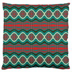 Ethnic Geometric Pattern Standard Flano Cushion Case (one Side) by linceazul