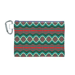 Ethnic Geometric Pattern Canvas Cosmetic Bag (m) by linceazul