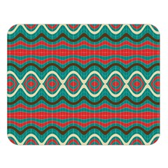 Ethnic Geometric Pattern Double Sided Flano Blanket (large)  by linceazul