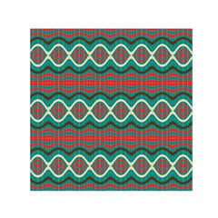 Ethnic Geometric Pattern Small Satin Scarf (square)  by linceazul