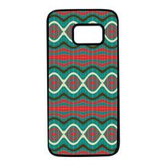 Ethnic Geometric Pattern Samsung Galaxy S7 Black Seamless Case by linceazul