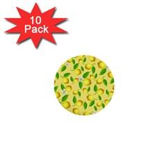 Lemon Pattern 1  Mini Buttons (10 Pack)  by Valentinaart