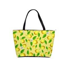 Lemon Pattern Shoulder Handbags by Valentinaart