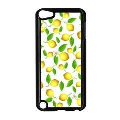 Lemon Pattern Apple Ipod Touch 5 Case (black) by Valentinaart