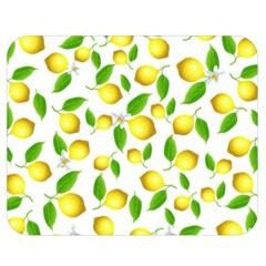 Lemon Pattern Double Sided Flano Blanket (medium)  by Valentinaart