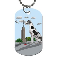 Great Dane Dog Tag (two Sides) by Valentinaart