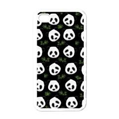 Panda Pattern Apple Iphone 4 Case (white) by Valentinaart