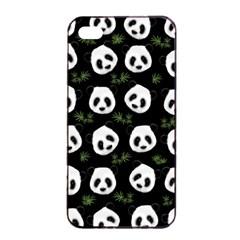 Panda Pattern Apple Iphone 4/4s Seamless Case (black) by Valentinaart
